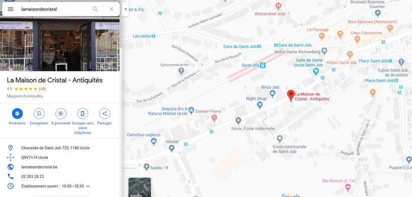 Boutique La Maison de Cristal Bruxelles