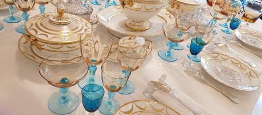 verrerie art table